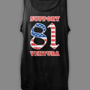 Mens Tank Top Support 81 Ventura US Flag