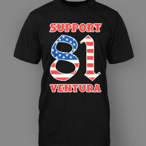 Mens T-Shirt Support 81 Ventura US Flag